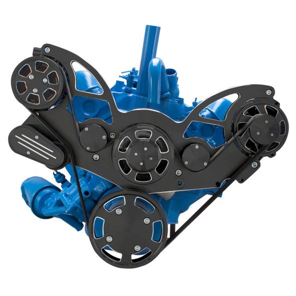 Black Diamond Serpentine System for AMC Jeep 304, 360 & 401 - AC & Alternator - All Inclusive