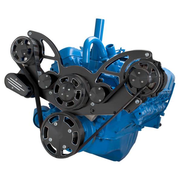 Black Diamond Serpentine System for AMC Jeep 304, 360 & 401 - Alternator Only - All Inclusive