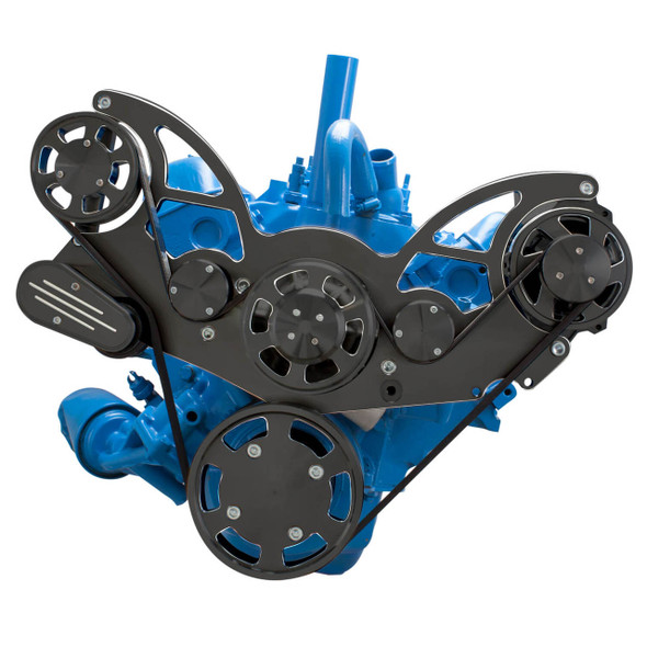 Black Diamond Serpentine System for AMC Jeep 304, 360 & 401 - Alternator Only - All Inclusive