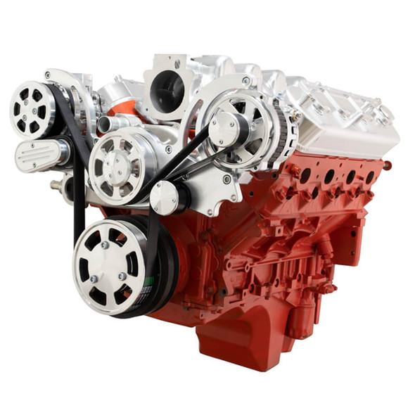 Chevy LS Engine Serpentine Kit - AC & Alternator - Mid-Mount