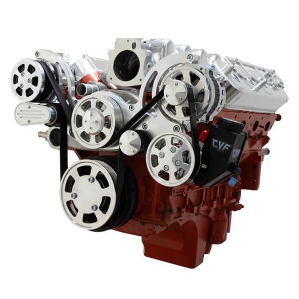 Chevy LS Engine Serpentine Kit - AC, Alternator & Power Steering - Mid-Mount