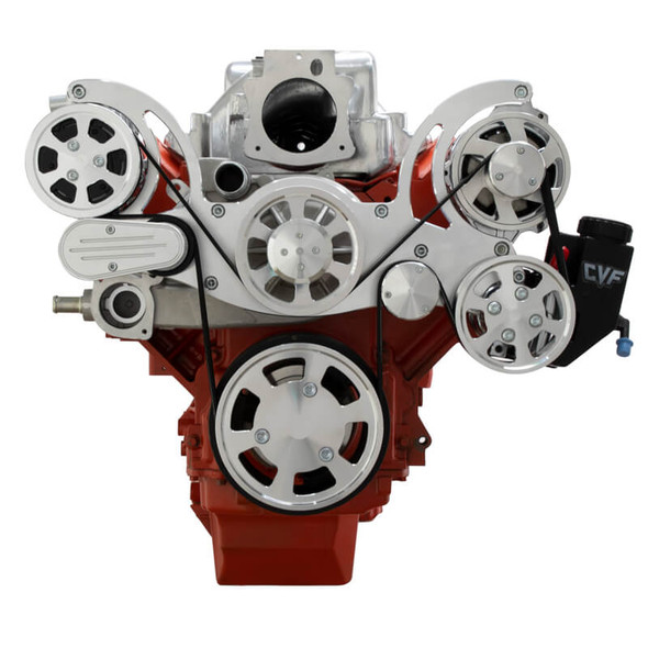 Chevy LS Engine Serpentine Kit - AC, Alternator & Power Steering - Mid-Mount