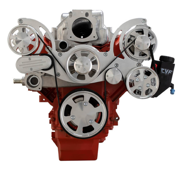 Chevy LS Serpentine Kit - Power Steering & Alternator - Mid-Mount