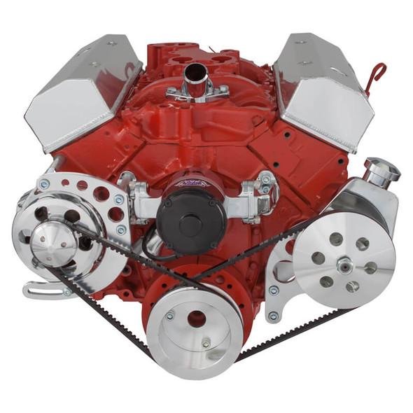 Chevy Small Block V-Belt System - Alternator & Power Steering, EWP