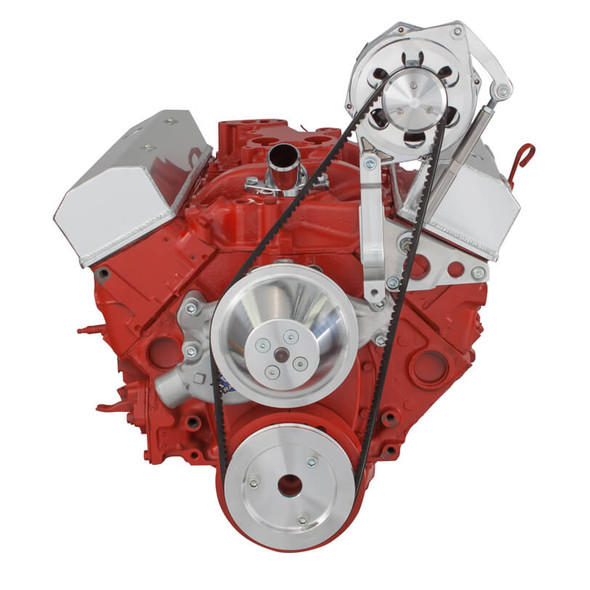 Chevy Small Block V-Belt System, Alternator Only - Short Water Pump