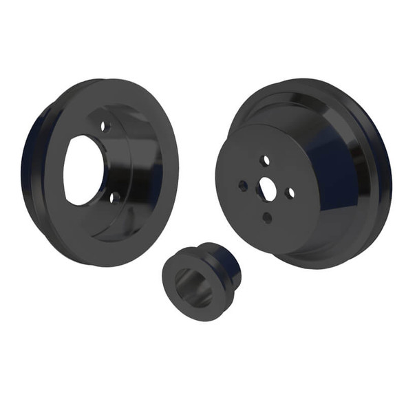 Stealth Black Ford Big Block Pulley Kit (429 & 460)