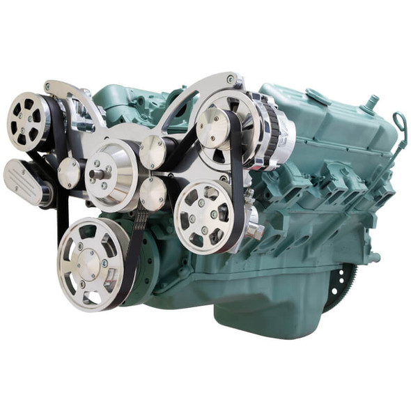 Serpentine System for Buick 455 - AC, Power Steering & Alternator - All Inclusive