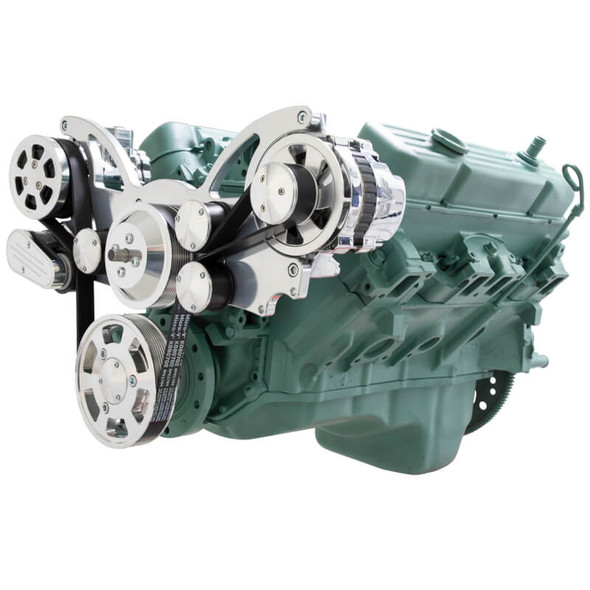 Serpentine System for Buick 455 - AC & Alternator - All Inclusive