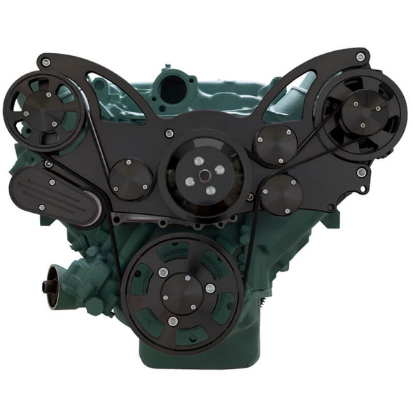 Stealth Black Serpentine System for Buick 455 - Alternator Only - All Inclusive