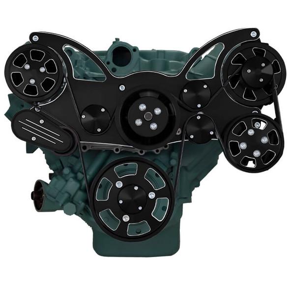 Black Diamond Serpentine System for Buick 455 - AC, Power Steering & Alternator - All Inclusive
