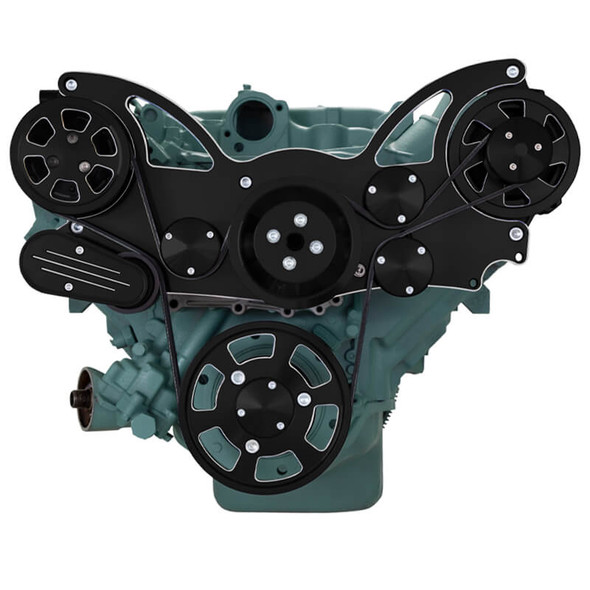 Black Diamond Serpentine System for Buick 455 - AC & Alternator - All Inclusive
