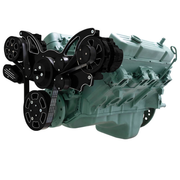 Black Diamond Serpentine System for Buick 455 - AC & Alternator - All Inclusive