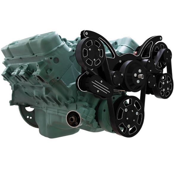 Black Diamond Serpentine System for Buick 455 - Power Steering & Alternator - All Inclusive
