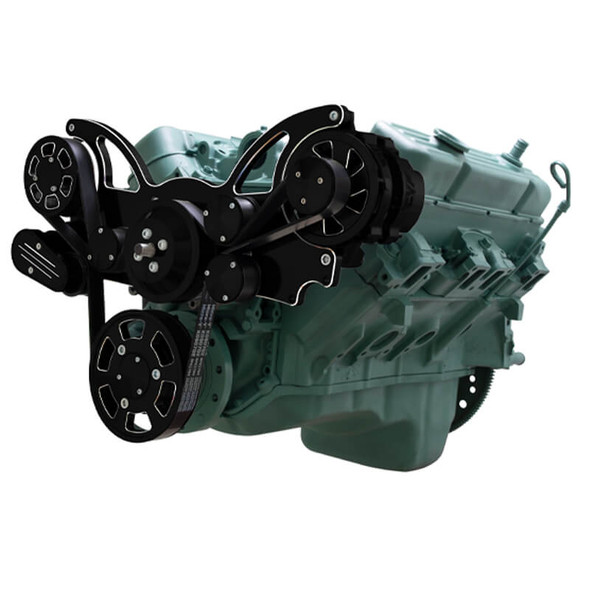 Black Diamond Serpentine System for Buick 455 - Alternator Only - All Inclusive