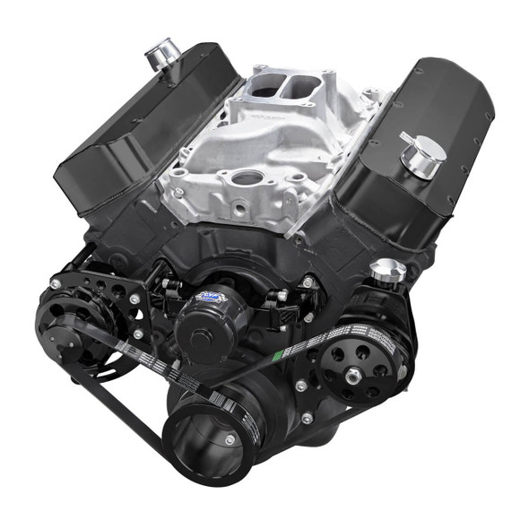 Black Chevy Big Block Serpentine Conversion Kit - Power Steering