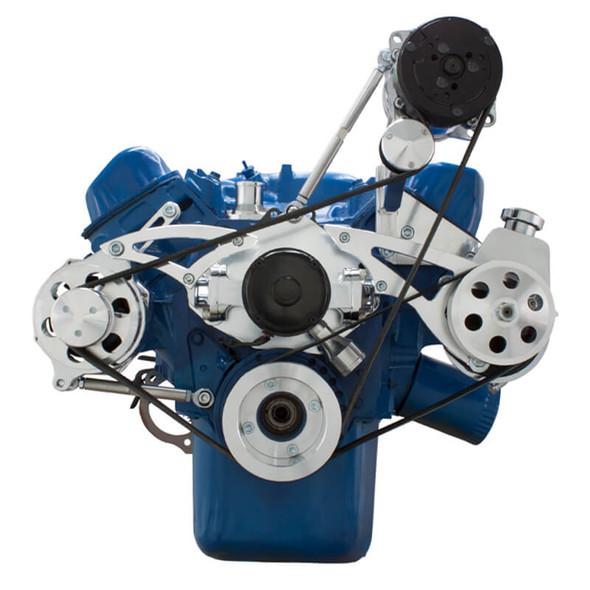 Ford 351C, 351M & 400 Serpentine System - AC, Power Steering & Alternator - EWP