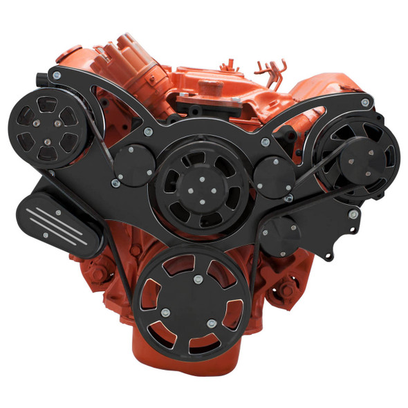 Black Diamond Serpentine System for Big Block Mopar 426 Hemi - AC & Alternator - All Inclusive