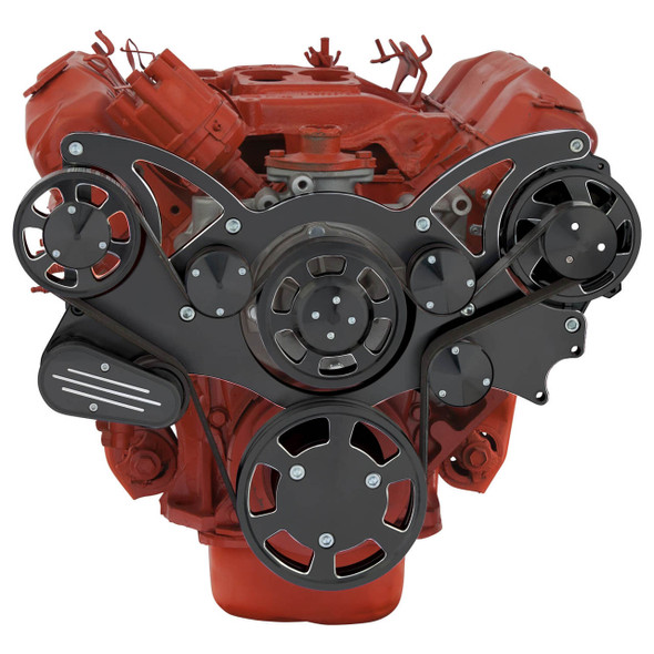 Black Diamond Serpentine System for Big Block Mopar 426 Hemi - Alternator Only - All Inclusive
