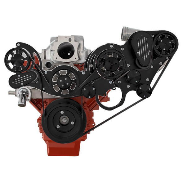 Black Diamond Chevy LS Engine Mid Mount Serpentine Kit - ProCharger - Alternator Only