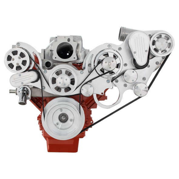Chevy LS Engine Mid Mount Serpentine Kit - ProCharger - AC & Alternator
