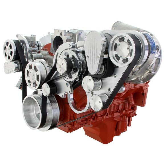 Chevy LS Engine Mid Mount Serpentine Kit - ProCharger - AC & Alternator