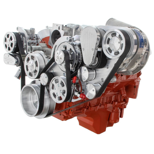 Chevy LS Engine Mid Mount Serpentine Kit - ProCharger - AC, Alternator & Power Steering