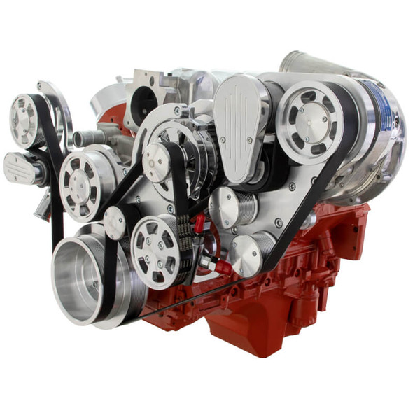 Chevy LS Mid Mount Serpentine Kit - ProCharger - Power Steering & Alternator