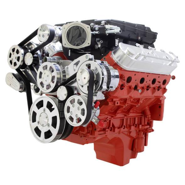 Chevy LS Serpentine Kit - Edelbrock - AC, Alternator & Power Steering