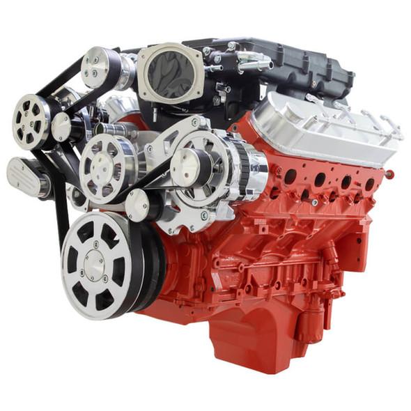 Chevy LS Serpentine Kit - Edelbrock - AC & Alternator