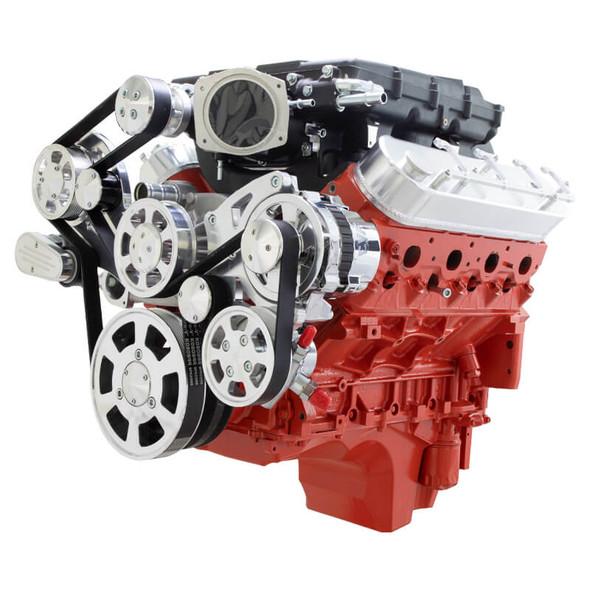 Chevy LSX Serpentine Kit - Edelbrock - Power Steering & Alternator