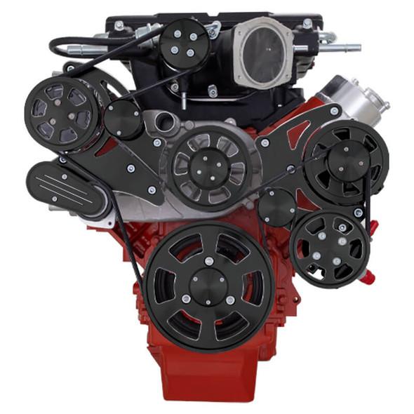Black Diamond Chevy LS Serpentine Kit - Whipple - AC & Power Steering