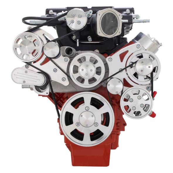 Chevy LSX Serpentine Kit - Whipple - Power Steering & Alternator
