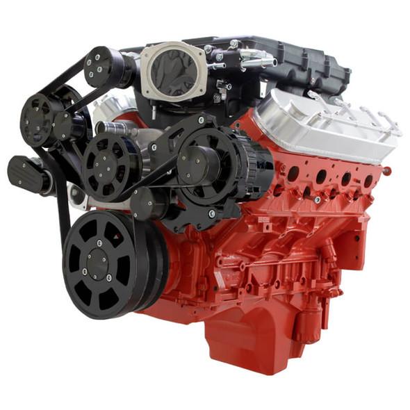 Stealth Black Chevy LS Serpentine Kit - Magnuson - Alternator