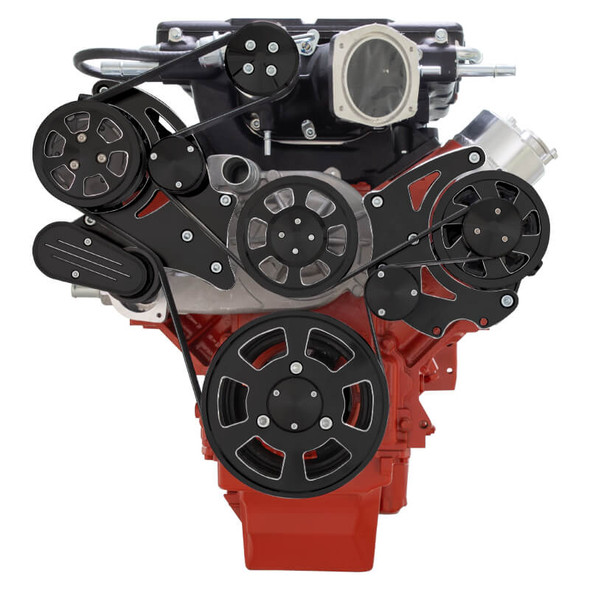 Black Diamond Chevy LS Serpentine Kit - Magnuson - AC & Alternator