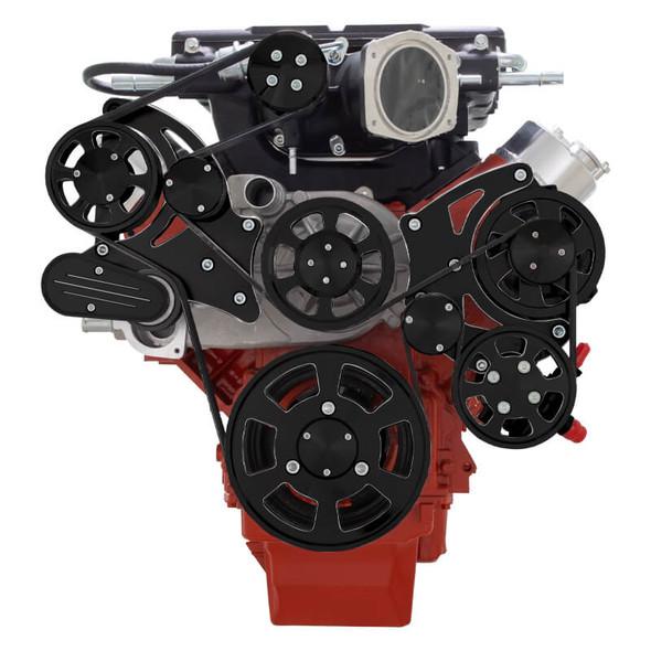 Black Diamond Chevy LS Serpentine Kit - Magnuson - Power Steering & Alternator