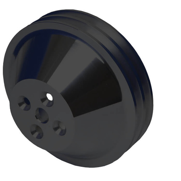 Stealth Black Chevy Small Block Water Pump Pulley