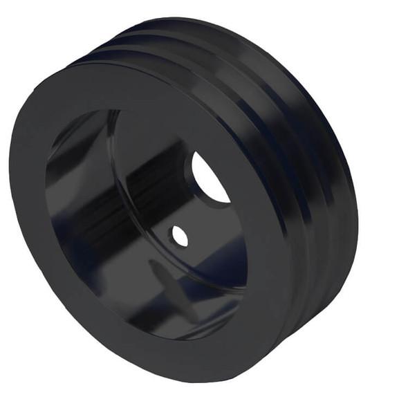 Stealth Black Chevy Small Block Crankshaft Pulley