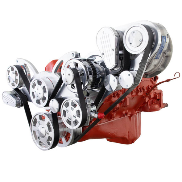 Chevy Small Block Serpentine Kit - ProCharger - Power Steering & Alternator