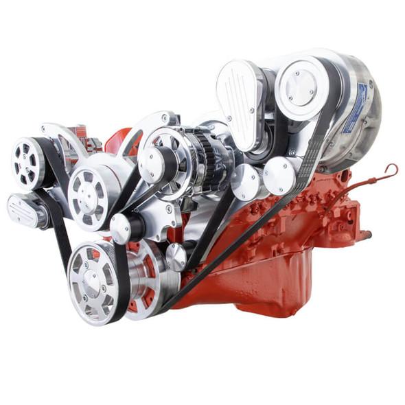Chevy Small Block Engine Serpentine Kit - ProCharger - AC & Alternator