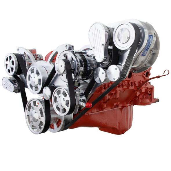 Chevy Small Block Serpentine Kit - ProCharger - AC, Alternator & Power Steering