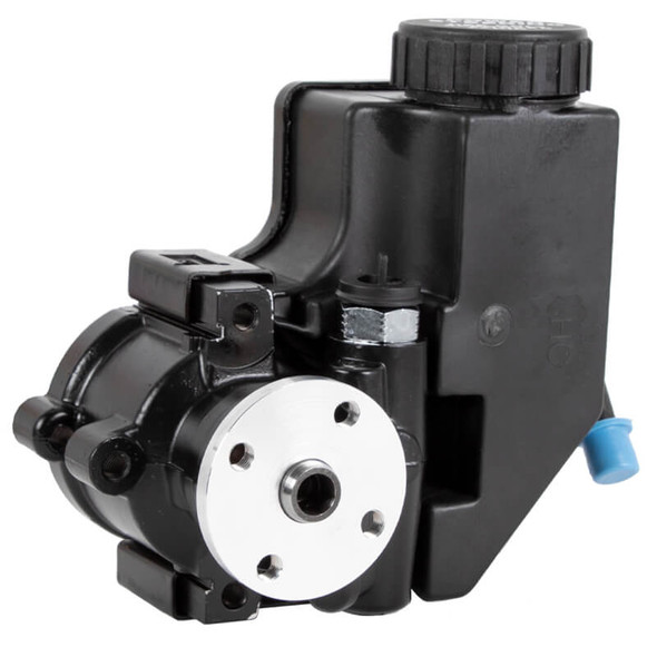 Black GM Type II Power Steering Pump with Attached Reservoir