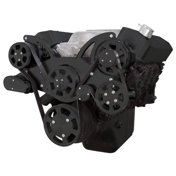 Black Serpentine System for Big Block Chevy - AC, Power Steering & Alternator