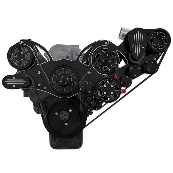 Black Diamond Chevy Big Block Serpentine Kit - ProCharger - AC, Alternator & Power Steering