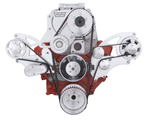 Serpentine System for Small Block Chevy Supercharger - Alternator & Root Style Blower - All Inclusive