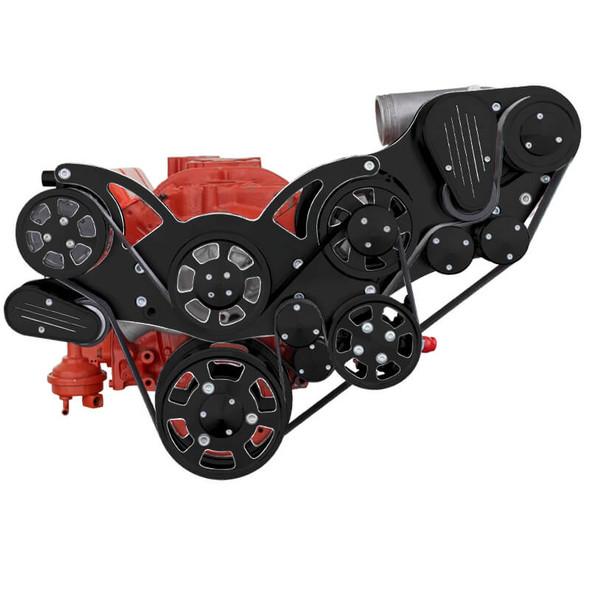 Black Diamond Chevy Small Block Serpentine Kit - ProCharger - AC, Alternator & Power Steering