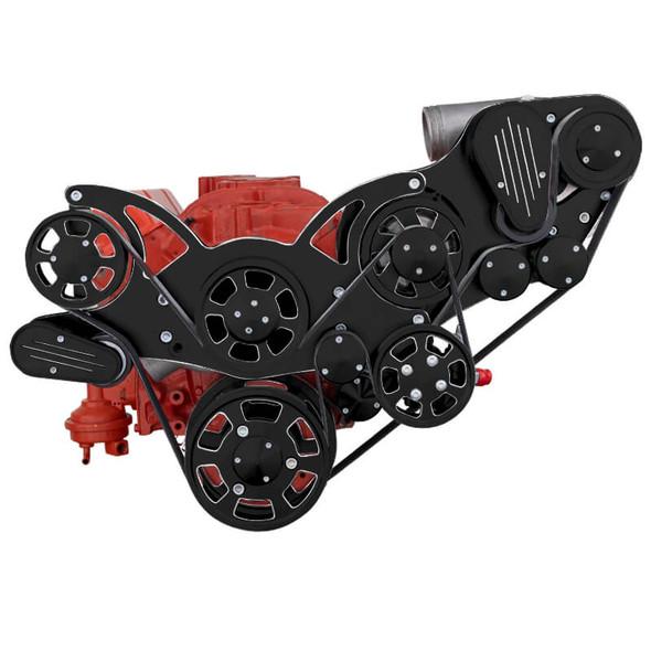 Black Diamond Chevy Small Block Serpentine Kit - ProCharger - Power Steering & Alternator