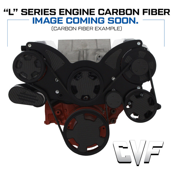 Stealth Black Carbon Fiber Mid-Mount Chevy LS Serpentine System - All Inclusive - AC, PS, ALT
