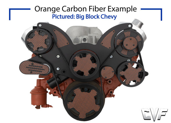 Stealth Black Carbon Fiber Mid-Mount Chevy LS Serpentine System - All Inclusive - AC, PS, ALT