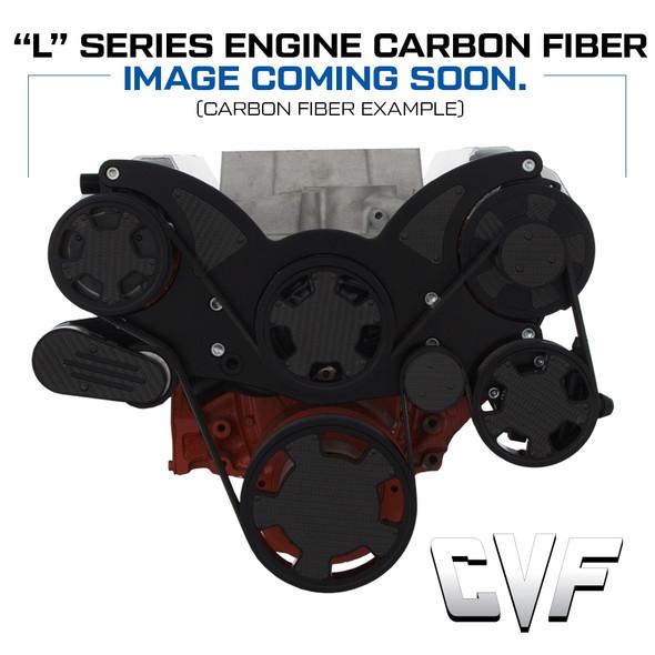 Stealth Black Carbon Fiber Mid-Mount Chevy LS Serpentine System - All Inclusive - PS, ALT