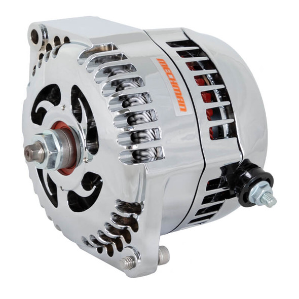 Mechman 1 Wire High Amperage Alternator, 300 Amp, Chrome Plated